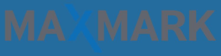 Das blaue X steht für MAXMARK eine Werbeagentur aus Kassel.