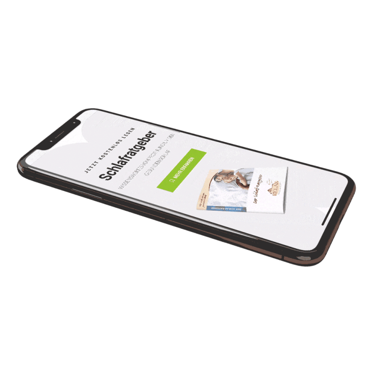 Auf dem Smartphone zeigen wir verschiedene Branchen und unterschiedliche Websites.