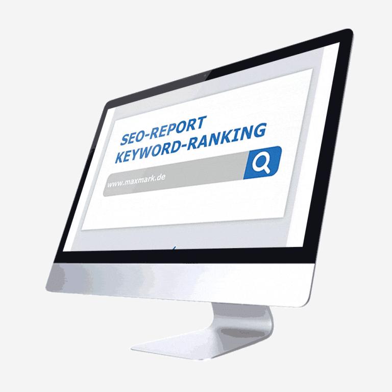 Auf dem MAC-Desktop zeigen wir Unternehmen das Ranking der Keywords.
