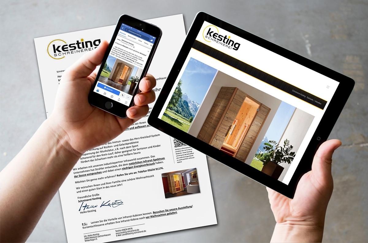 Unsere Onlineagentur aus Kassel erstellt ganzheitliche Mailing-Kampagnen im Online- und Offlinebereich für Unternehmen.